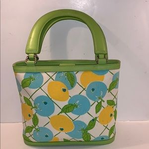 LILLY PULITZER Small lemon tote handbag purse